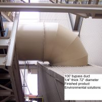 Fabrication & istallation 100 ft 72 inch bypass duct